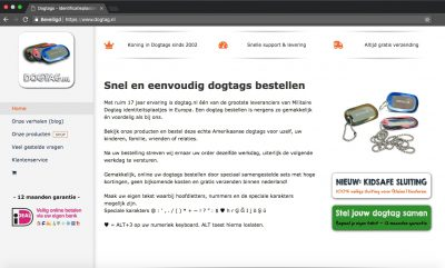 Dogtag.nl voorpagina