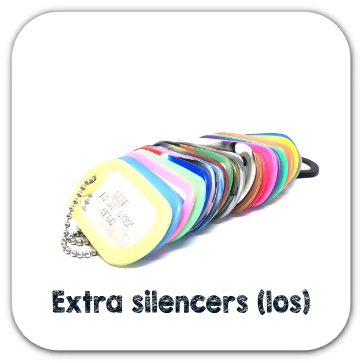 Losse Dogtag silencers